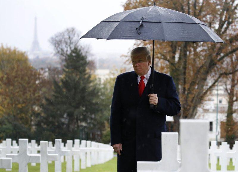 President Donald Trump in Paris