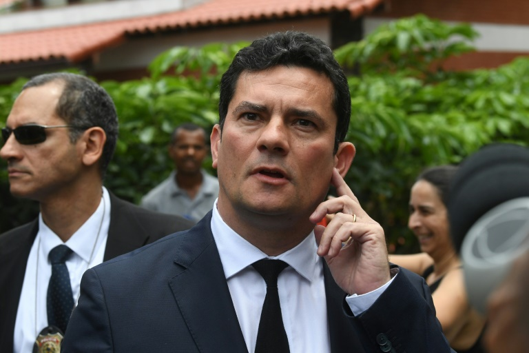 Judge Sergio Moro leaves the house of Brazilian President-elect Jair Bolsonaro on November 1, 2018 after accepting a post as justice minister