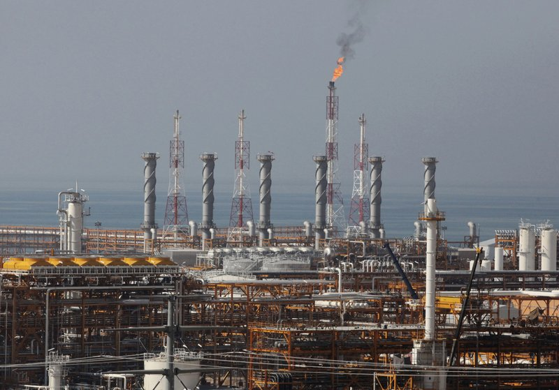 FILE-In this Jan 22, 2014, file photo, a partially constructed gas refinery at south parsgas field is seen on the northern coast of Persian Gulf in Asalouyeh, Iran-AP