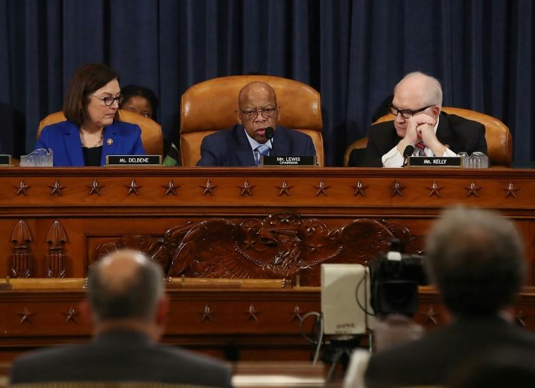Democratic Congressman John Lewis of Georgia chairs a hearing -AFP