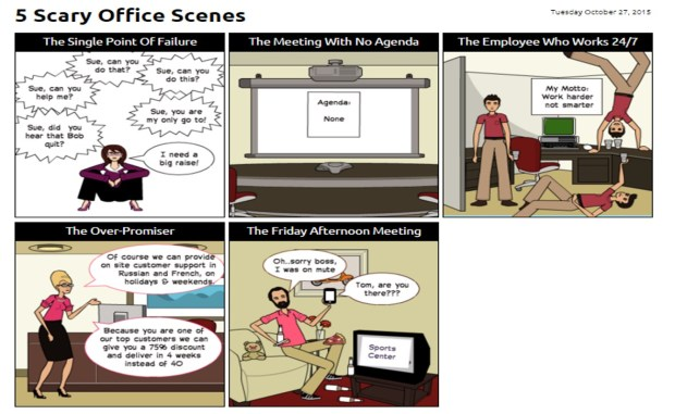 Operations Cartoon - 5 Scary Office Scenes
