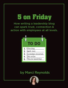 Leadership Blog  - 5 on Friday eBook Image