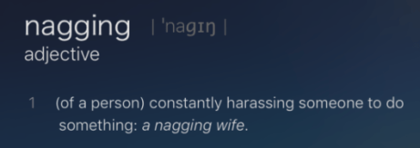 Those wives are such nags