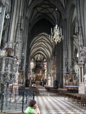 Inside St Stephens Cathedral. Photo: Maria Schindlecker