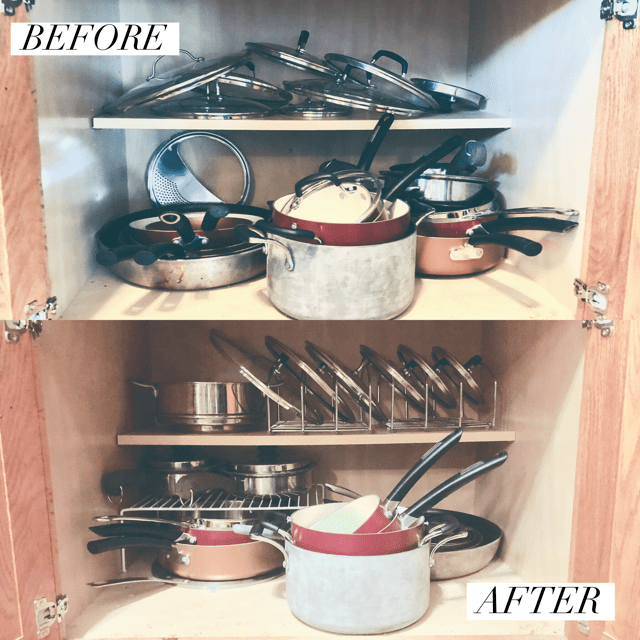 organize pots and pans
