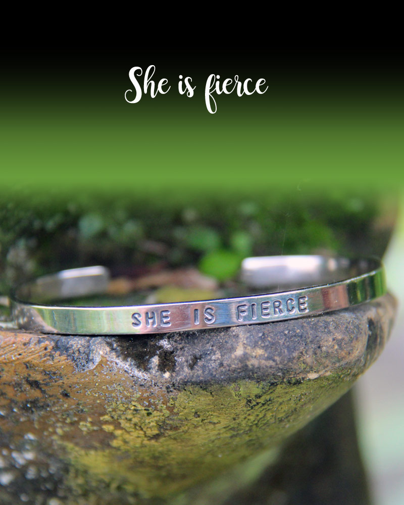 Good Vibes Bracelet: SHE IS FIERCE
