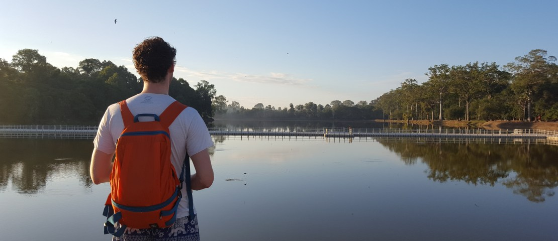 Our tenth date at Angkor Wat in Cambodia