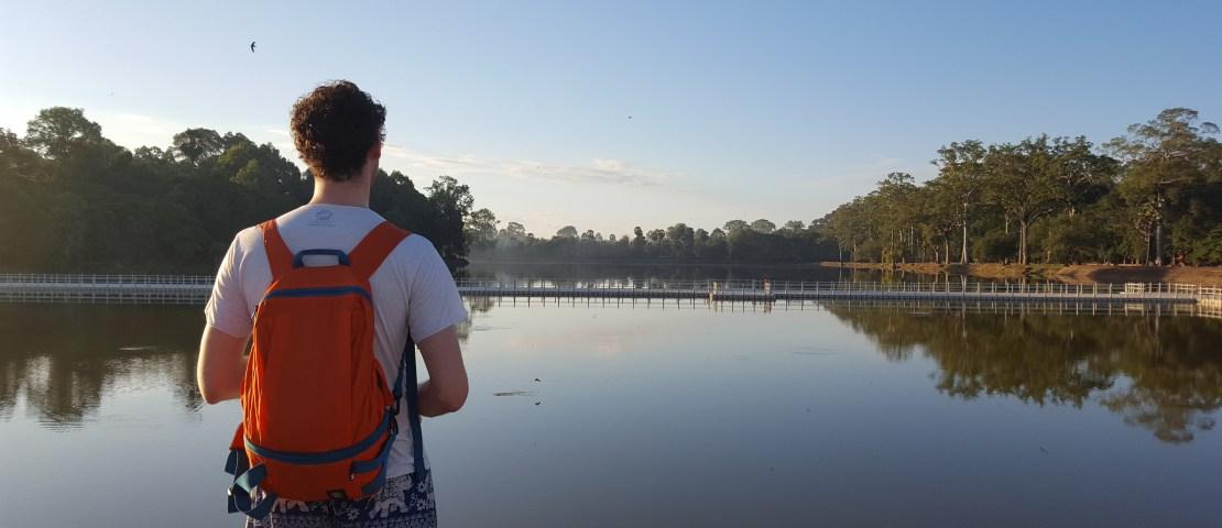 Onze tiende date bij Angkor Wat in Cambodja