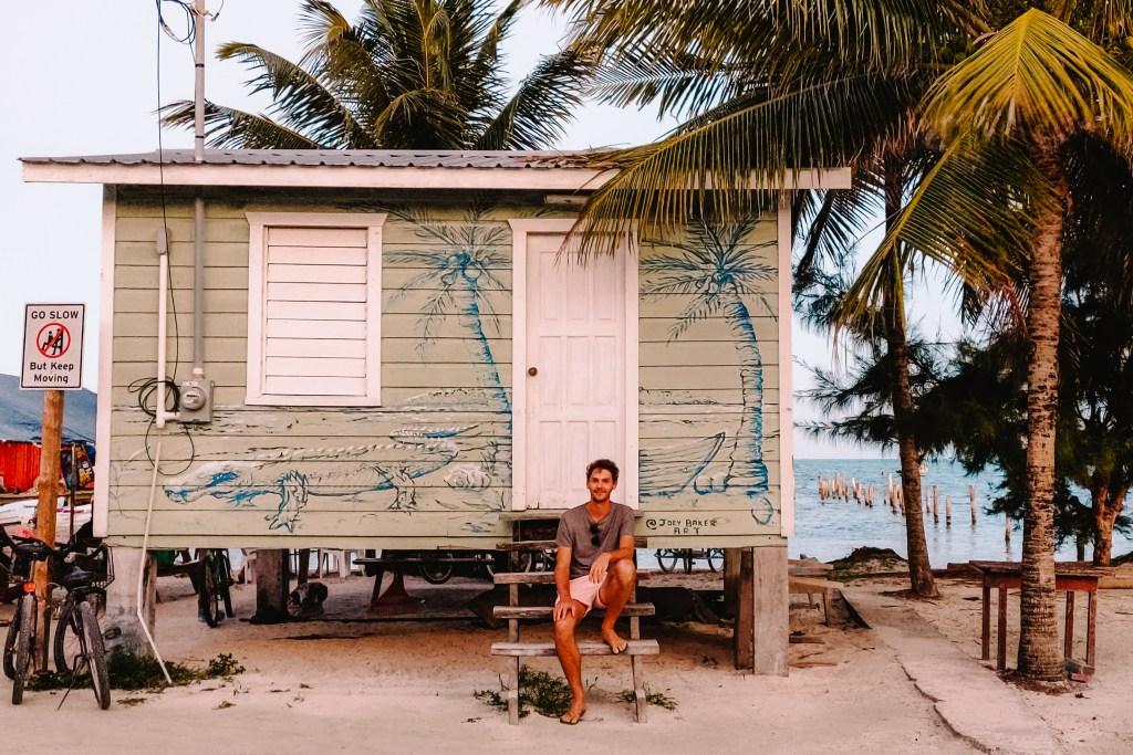 Caye Caulker | Belize | De oranje rugzak