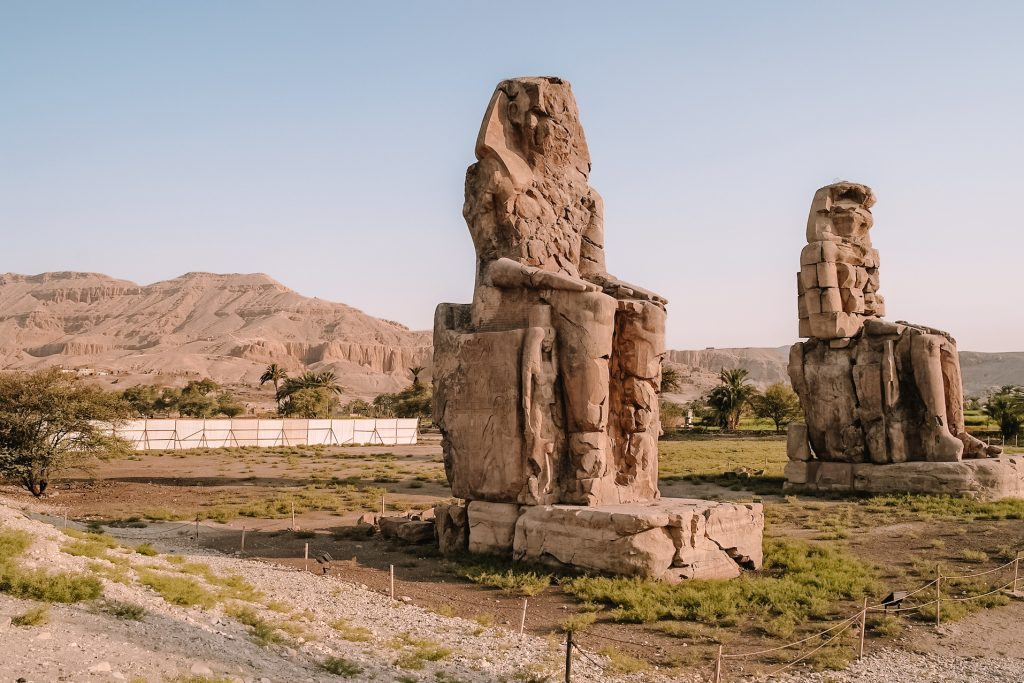Memnon statues | Luxor | Egypt | Egypte | The Orange Backpack