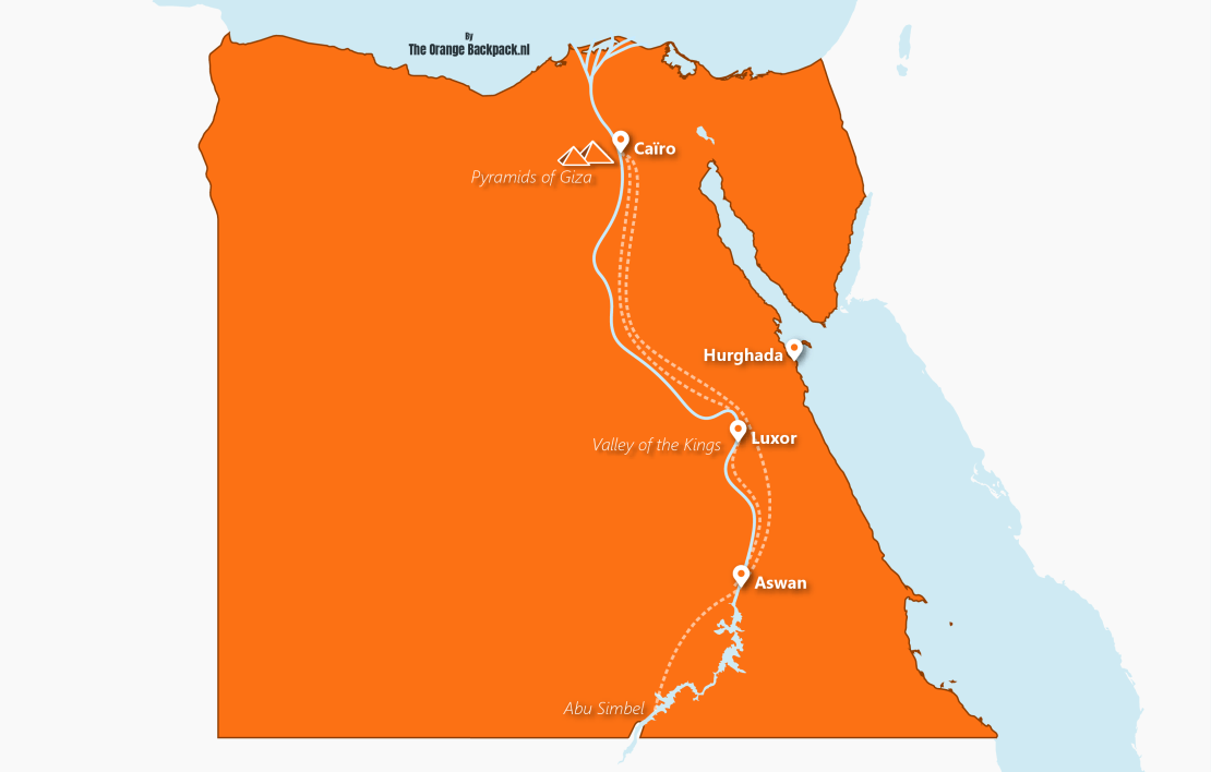 The best travel itinerary for Egypt | The Orange Backpack
