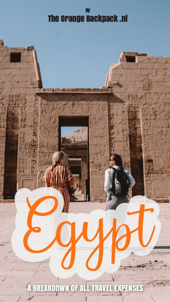 Travel budget for Egypt by The Orange Backpack