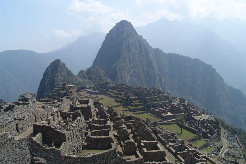 Verloren stad Machu Picchu Peru