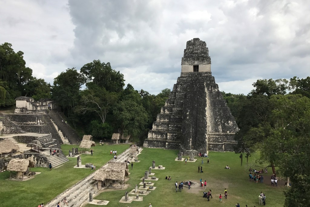 Lost city Mayan ruins Tikal in Guatemala UNESCO site