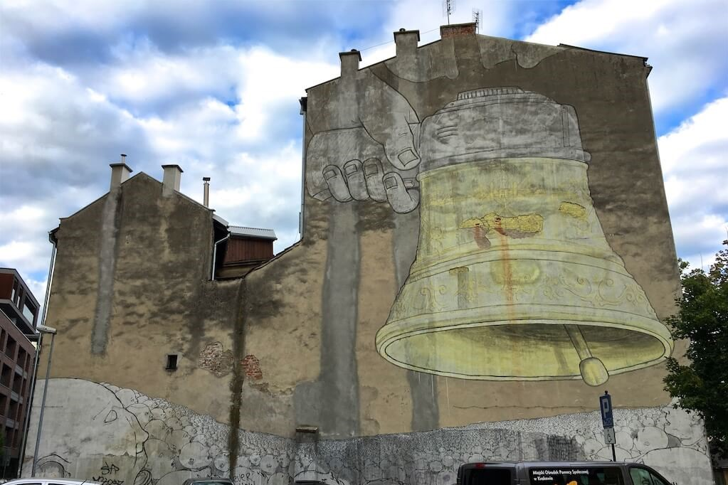 street art in krakow Poland Ding Dong Dumb by Blu