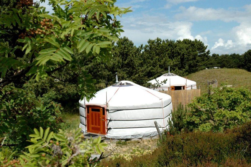 Glamping Texel yurts