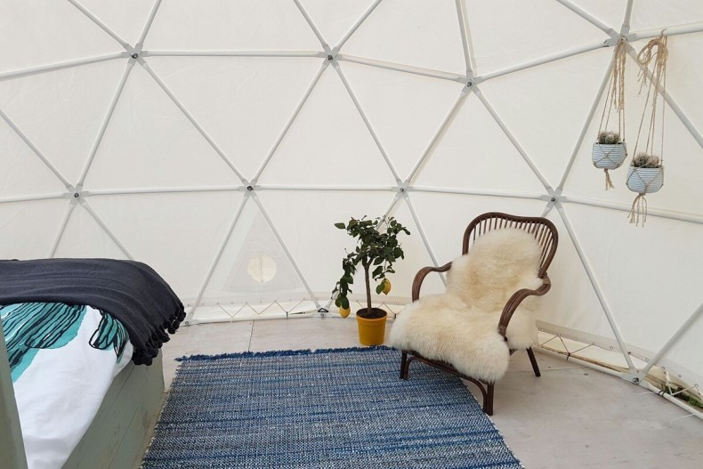 Glamping in een dome