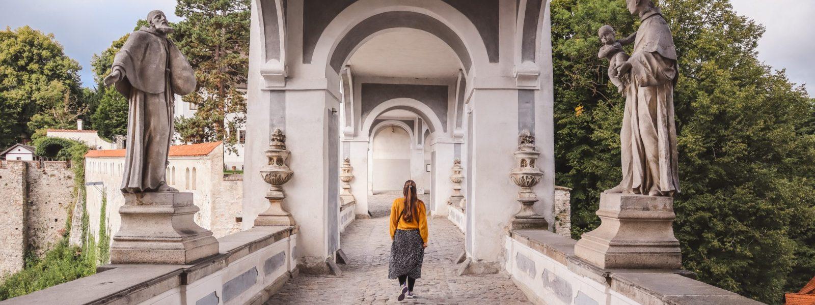 Bezoek de Cloak Bridge van Český Krumlov