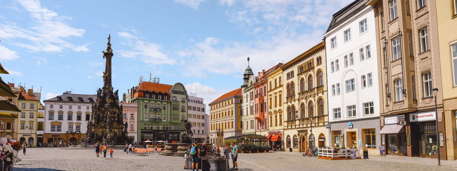 Olomouc in Tsjechië, het kleine Praag van Moravië
