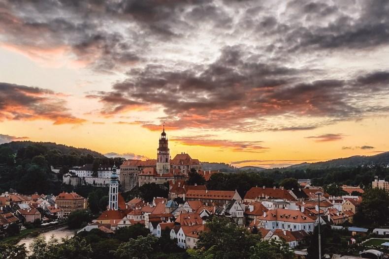 Zonsondergang Cesky Krumlov Sunset Viewpoint