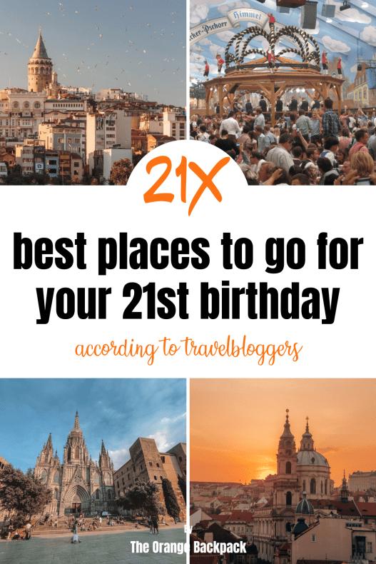 21st birthday destinations