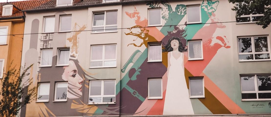 Street art in Kassel: colourful graffiti and unique murals