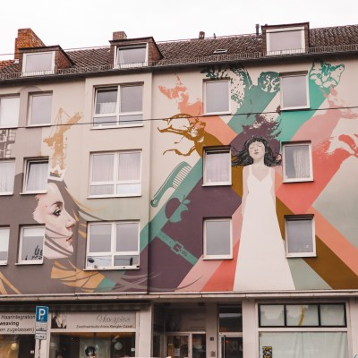 Street art Kassel Duitsland | Innerfields - Schneewittchen