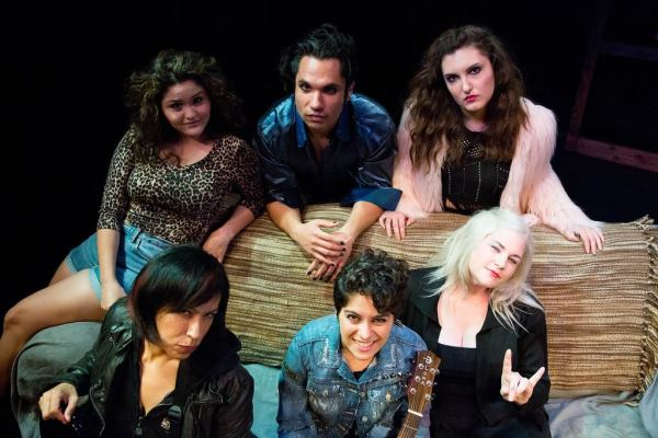 Front row: Mercy Vasquez, Anita Abdinezhad, Voiza Greene. Back row: Julianna Stephanie Ojeda, Gerardo Villa-Lobos and Lena Romano. | Photo by Stephen Rack