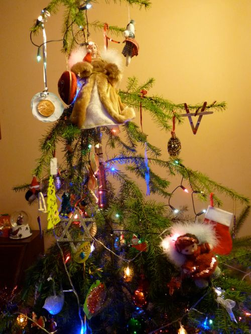 Our tree, decorated as we like it