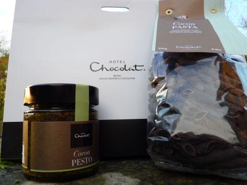 Hotel Chocolat pasta and pesto