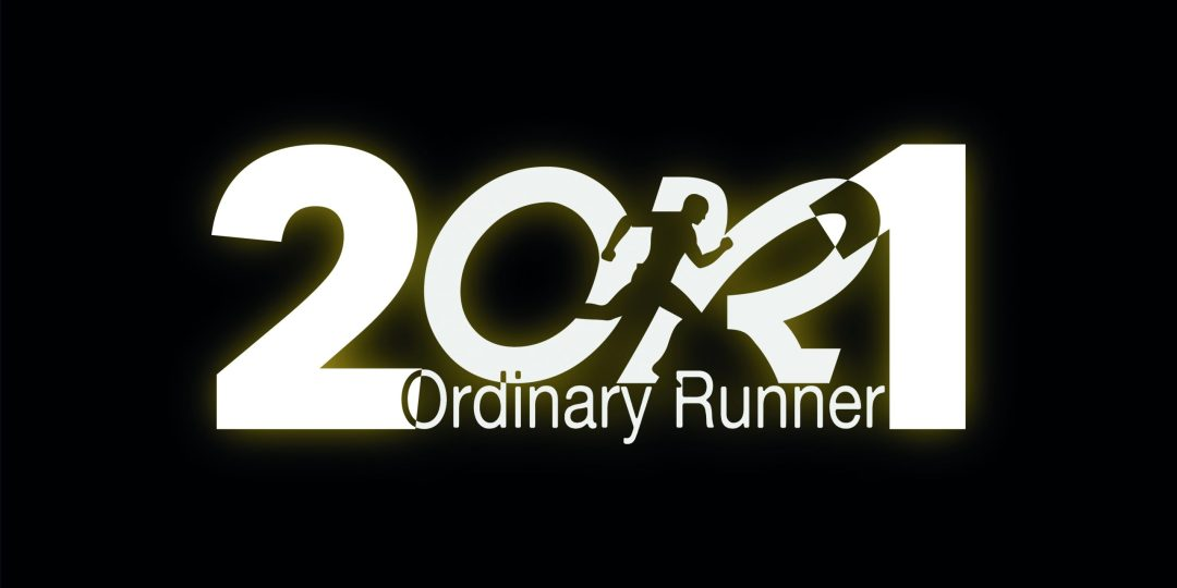 2021 spelled out with the Ordinary Runner logo in the middle