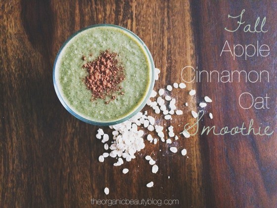 Organic-Beauty-Fall-Apple-Cinnamon-Smoothie