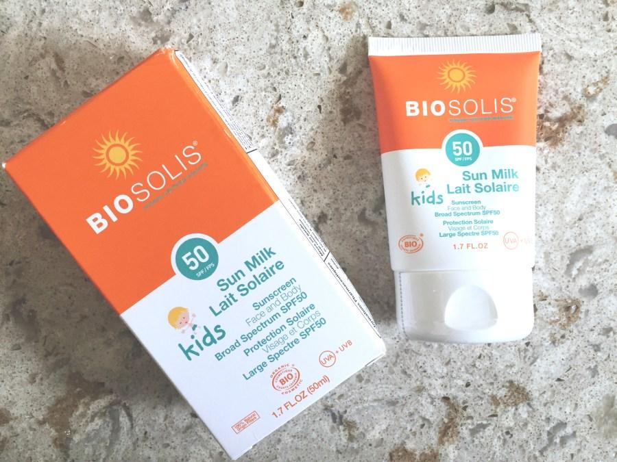 Biosolis Kids Sun Milk | The Organic Beauty Blog