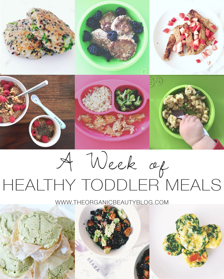A Week Of Healthy Toddler Meals