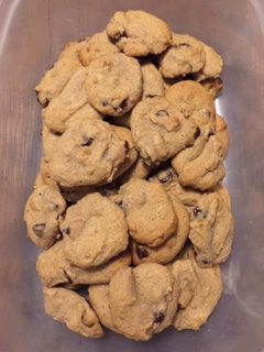 Spelt and Honey Chocolate Chip Cookies!