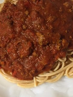 Do you have a favorite spaghetti sauce recipe? You will after you try this! Trust me! I got this recipe from my mom, who got it from her mother-in-law (my grandma:), who got it from her mother (my great grandmother:)! That's not confusing at all is it?! I tell you that to also tell you that there is a reason that it has made it through so many generations: it's Awesome Sauce! Literally! It is incredibly easy to make, and you will get tons of compliments on it! Ground Lamb Spaghetti Sauce!