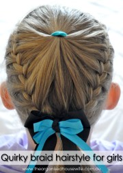 quirky braid hairstyle girls