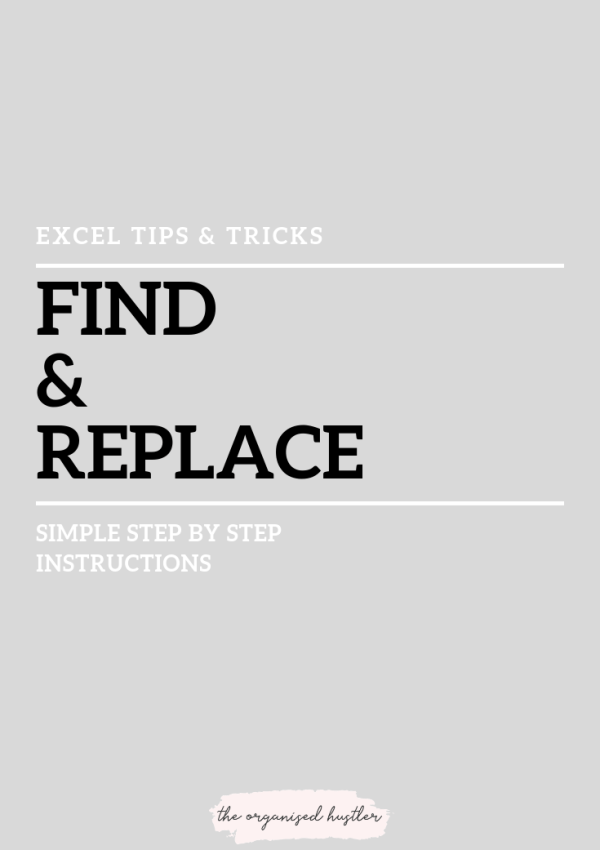 How to find & replace in Excel