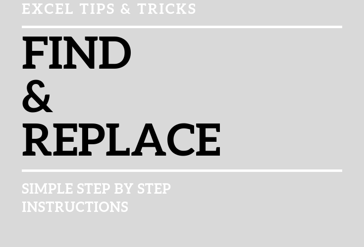 find & replace instructions for excel