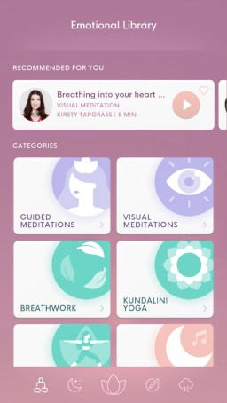bloom mindfulness app emotional library