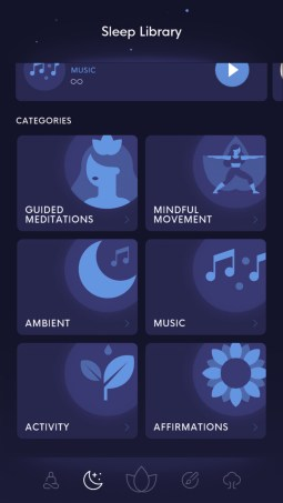 bloom mindfulness app sleep library