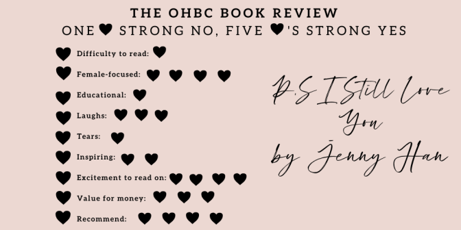 Jenny Han's P.S I Still love you. Book review by The Organised Hustler