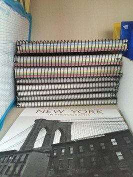 Stack of former notebooks
