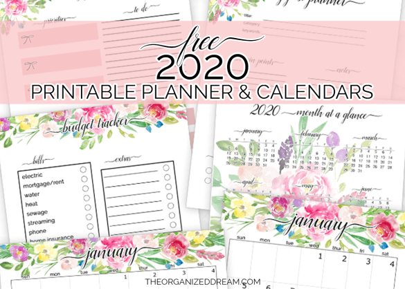 Free 2020 Printable Planner Pages and Calendar! #printables #plannerpages #plannergirl