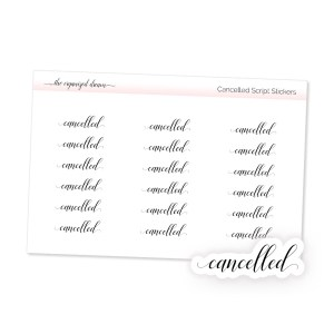 Cancelled Script Stickers