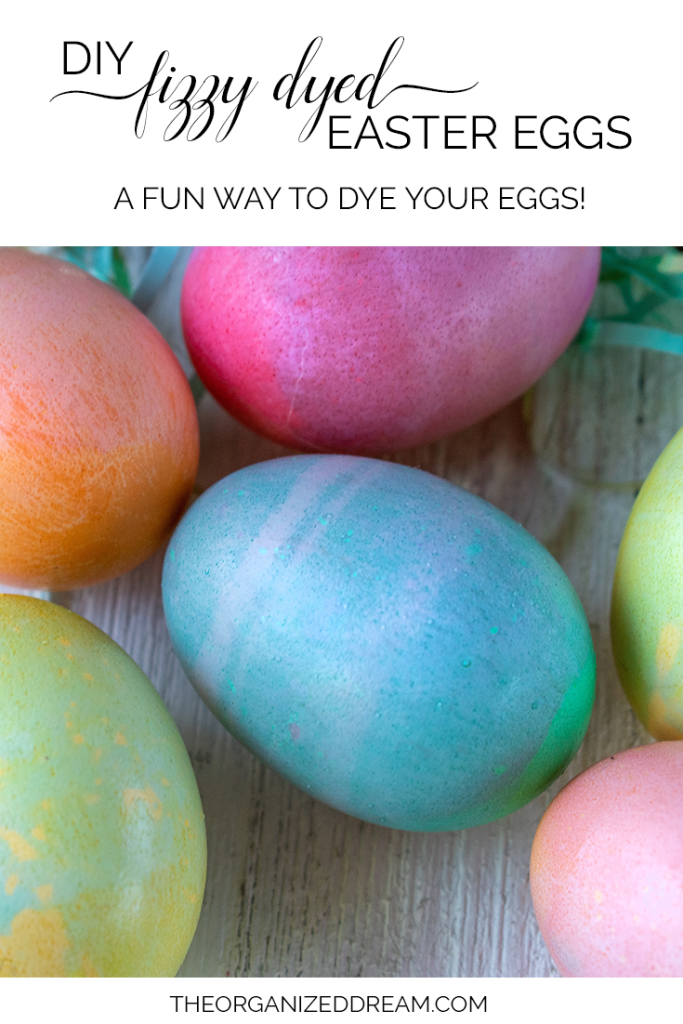 DIY Fizzy Dyed Easter Eggs