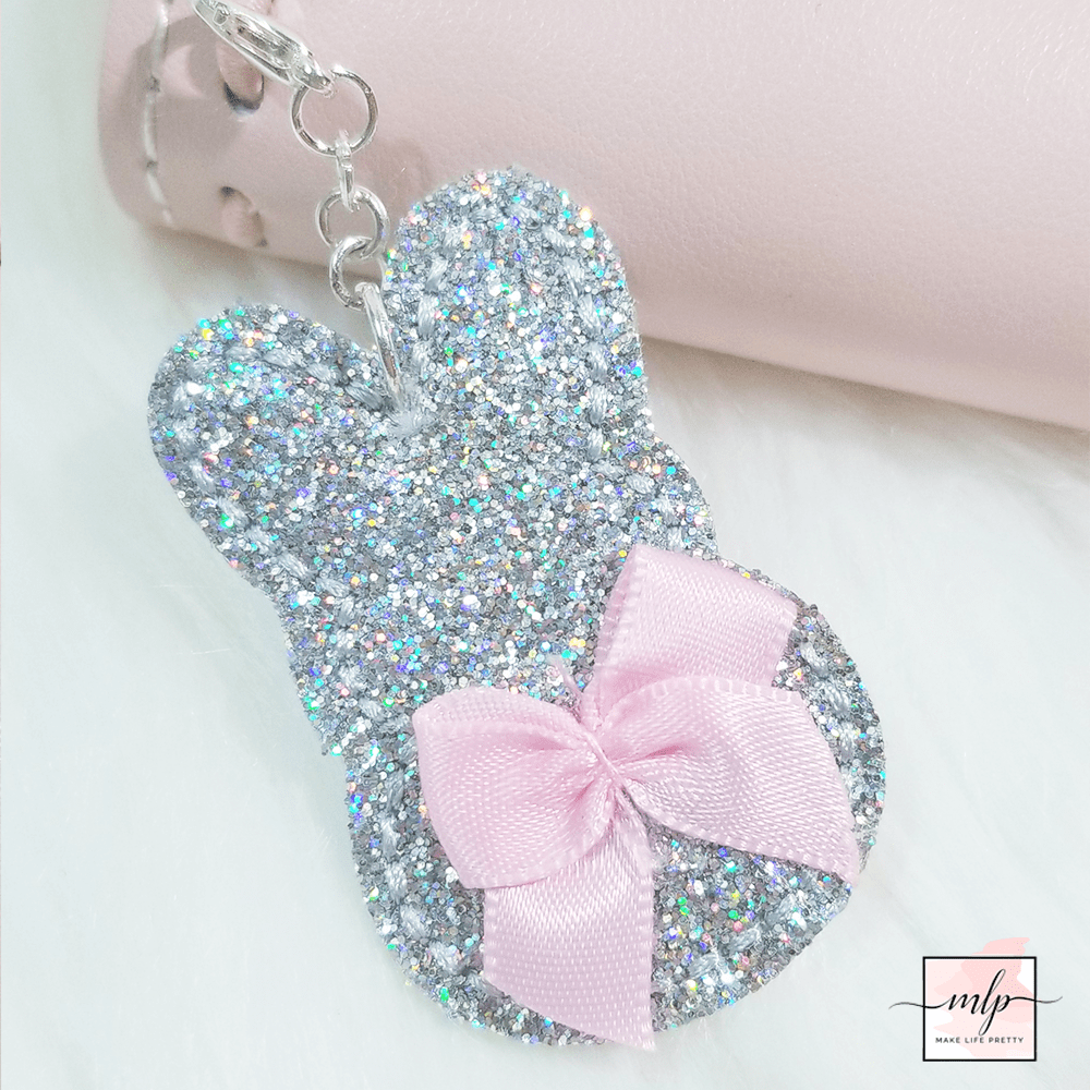 Holo Glitter Bunny Planner Charms