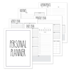 Personal Planner Pages