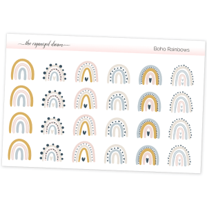 Boho Rainbow Stickers
