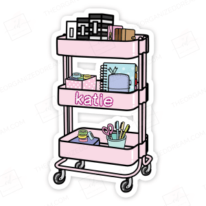 Personalized Planner Cart Die Cut